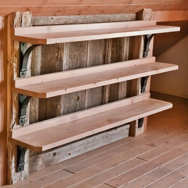 """Kept it simple with this shelving. #reclaimedwood #recycled""  