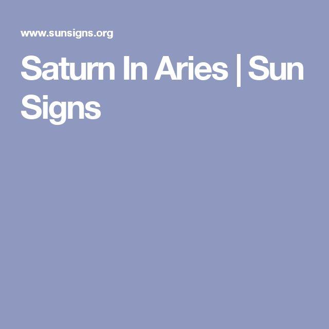 Saturn In Aries | Sun Signs