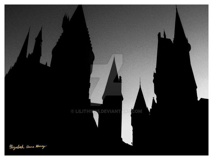 Best 25+ Hogwarts silh...