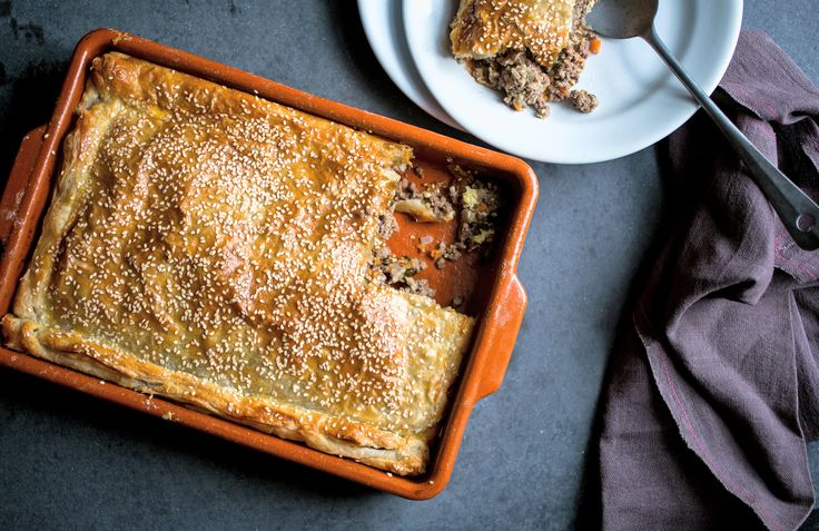 """This gently spiced beef pie, adapted from the """"Zahav: A World of Israeli Cooking"""" by the chef Michael Solomonov, is scented with cinnamon, dill and parsley The recipe calls for purchased puff pastry, which makes it extremely simple to make yet wonderfully rich to eat Leftovers will last for a few days in the refrigerator"""