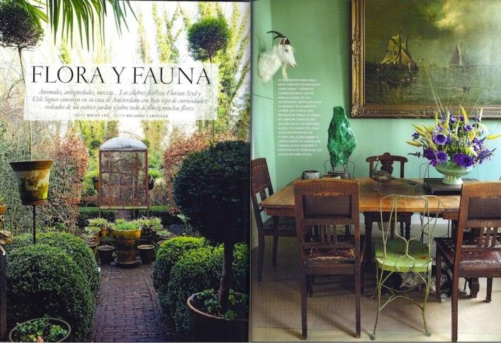 AD Spain spread featuring Florian Seyd and Ueli Signers home.  Images by Ricardo Labougle, courtesy of AD Spain. www.thewunderkammer.eu