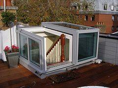 Semi-Retracting Raised Roof Access Hatch