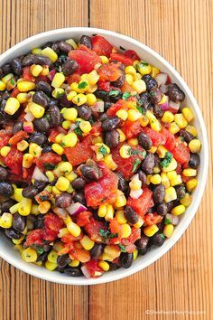 Black Bean Corn Salsa. Salsa does not last long at my house. I do believe this will be another winner recipe:) YUM.