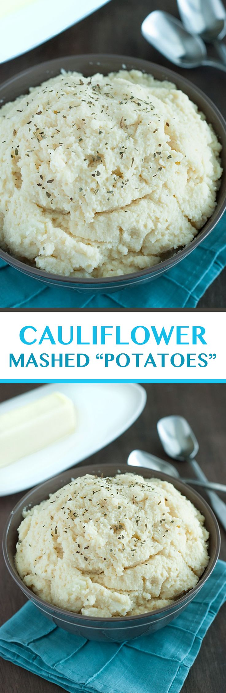 Cauliflower Mashed Potatoes - You'll wonder why you ever ate regular mashed potatoes!