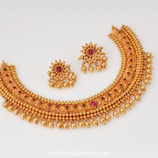 Latest Model Tussi Necklace ~ South India Jewels