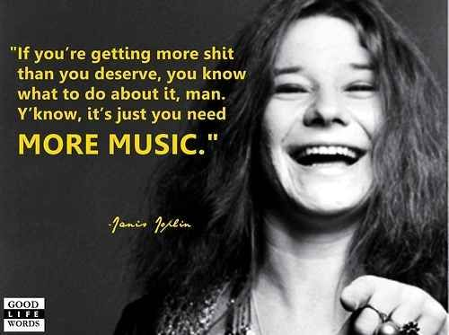 No bullshit from Janis. One of MANY reasons of why she is such an inspiration of mine.
