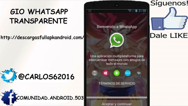 Descargar GioWhatsApp v3 MOD APK WhatsApp Transparente - http://descargasfullapkandroid.com/2015/09/descargar-giowhatsapp-v3-mod-apk-whatsapp-transparente/