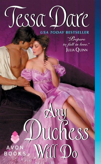 Any Duchess Will Do by Tessa Dare.  I loved this more than I expected. First foray into historical romance and I was thoroughly entertained.