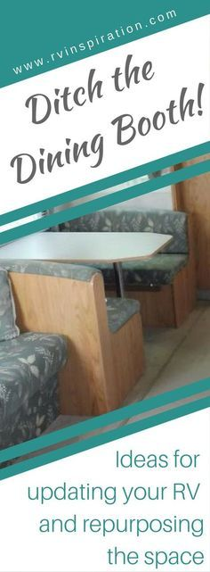 The owners of these motorhomes, campers, and travel trailers decided to remove their dining booth. Here's what they replaced it with. | RVs, campers, travel trailers, and motorhomes without the dinette booth