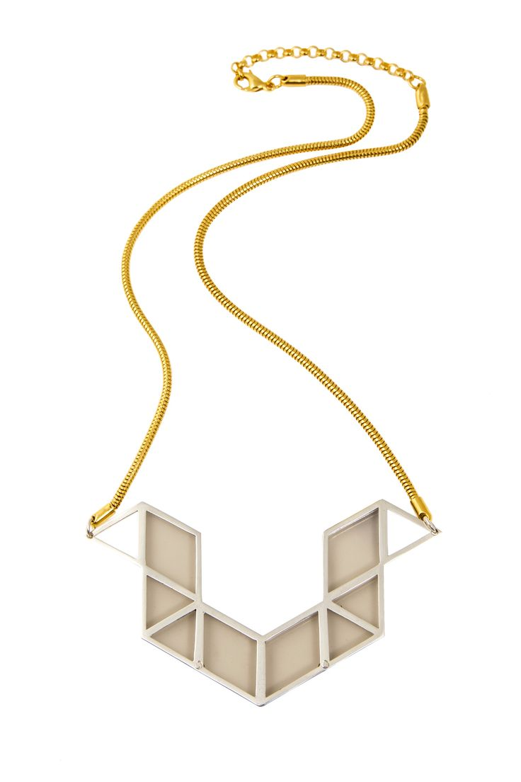 Perspex Rubick's Snake Necklace in Gold and Silver – Anna Byers Jewellery