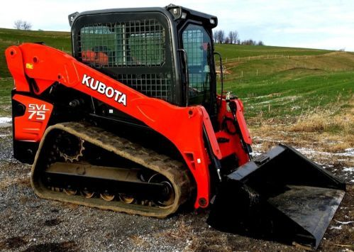 2010 Kubota SVL75 Track Skid Steer Loader Machine Tractor Construction cab, heat for sale at www.quesalesinc.com for $29,980.00