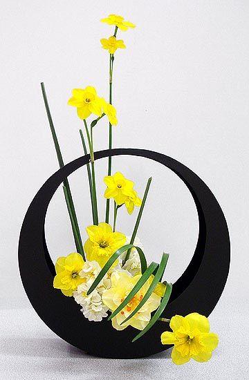 Ikebana Japanese art of flower arrangement.                                                                                                                                                     More