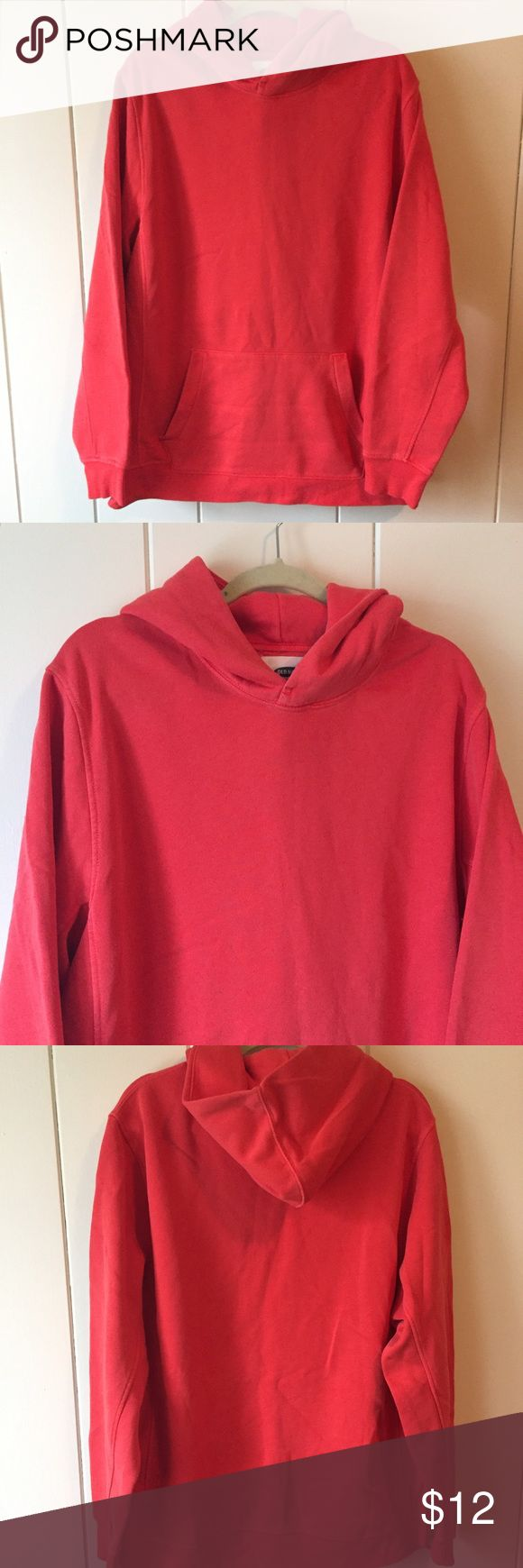   Old Navy   Coral Hoodie Coral Old Navy hoodie is a men's large. You'll love the feel and color of this hoodie! It's a perfect summer/spring color! Old Navy Shirts Sweatshirts & Hoodies
