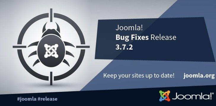 Joomla! 3.7.2 is now available. This is a bug fix release for the 3.x series of Joomla. This release fixes some bugs in file mime checks,