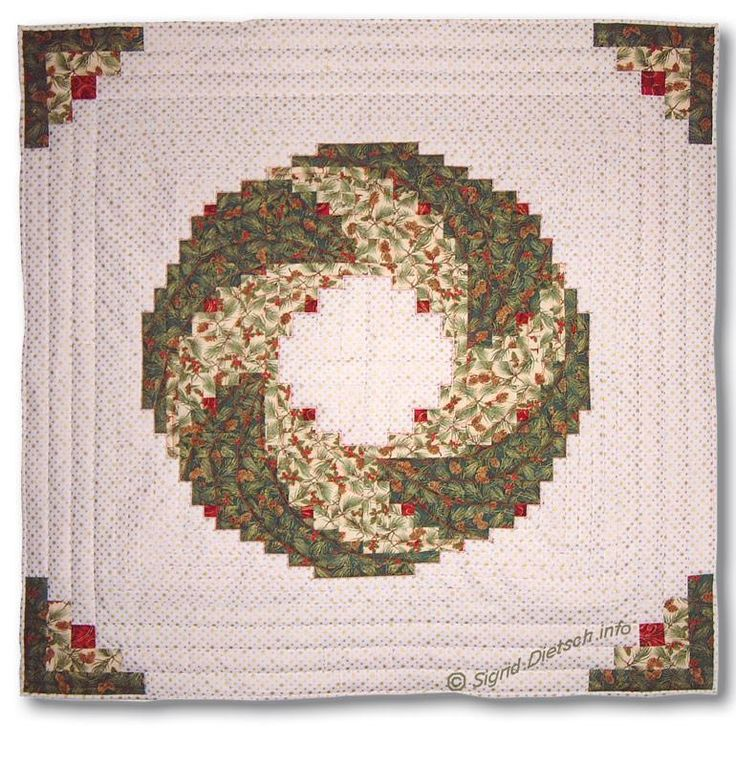 Burda 10/93. Christmas Wreath Quilt