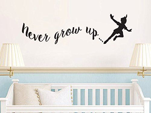 Peter Pan Inspired Never Grow Up Vinyl Wall Decal Sticker #LuckyGirlDecals #beautiful #budget #custom #cute #decal #decals #decor #decorating #design #family #fun #gifts #graphics #happy #home #homedecor #interiordecorating #interiordesign #lettering #letters #love #luckygirldecals #oracal631 #personalized #pretty #quote #quotes #remarkablewalls #sticker #stickers #style #vinyl #vinyldecal #vinylfilm #vinylwalldecal #wall #wallart #walldecal #walldecor #wallquote #wallquotes  #wallsticker…
