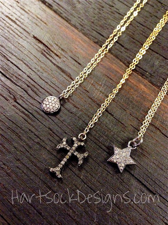 Diamond Charm Necklace/