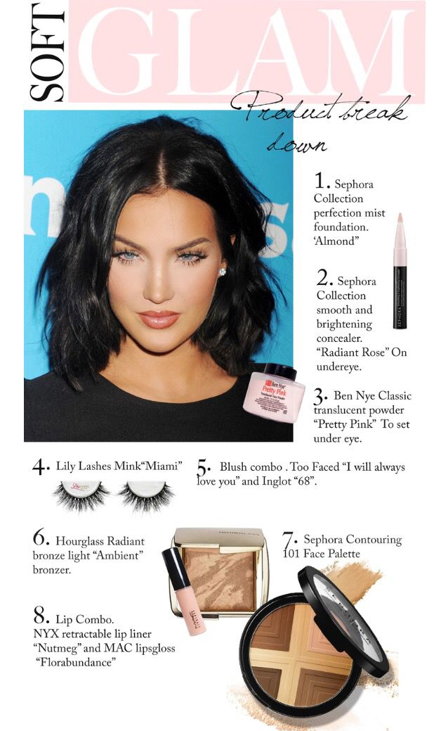 Natalie Halcro's soft glam look