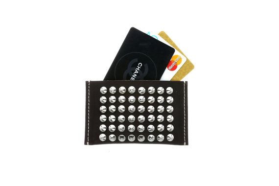 Studded Card Holder with Personalized Card Holder by CUSTOMDUO