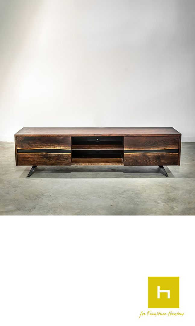 A Square Roots design the Vega Entertainment Unit in seared oak is a stunning piece, that makes a bold statement. #furniturehunters #entertainmentunit