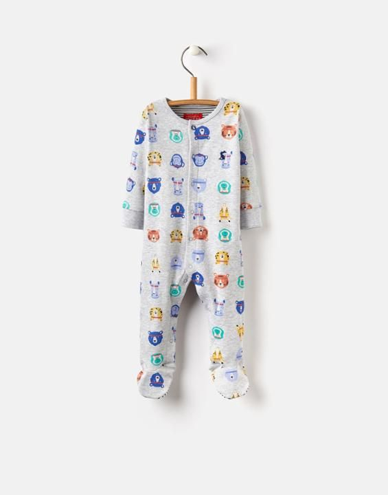 Joules UK ZIGGY BabyBoys Printed Babygrow Sports Stars