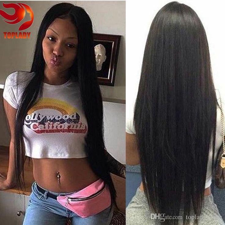 7a Glueless Brazilian Straight Full Lace Human Hair Wigs