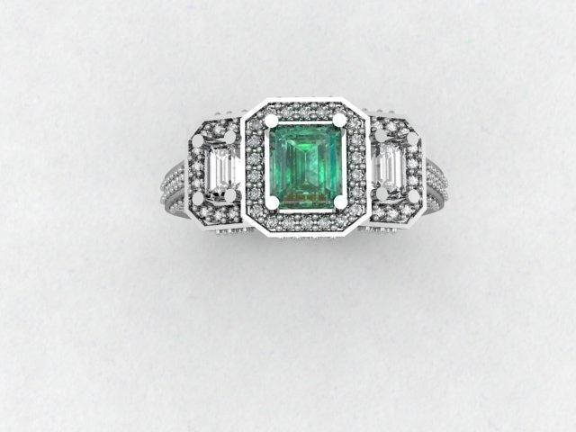 Emerald & Diamond Ring, $7,200.00