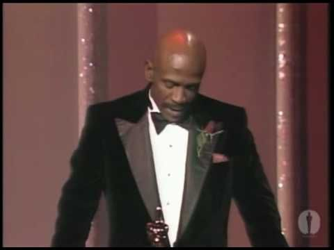 "Louis Gossett Jr. winning Best Supporting Actor for ""An Officer and a Gentleman"""