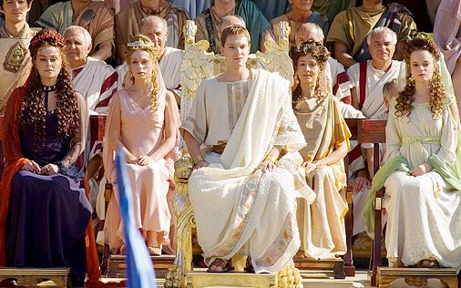 Augustus has to be considered one of the most important people in Roman history.  Here he is pictured with members of his family, who also figured prominently in art produced during Augustus' reign.  From left to right we see Atia, Julia, Augustus, a royal woman, and Livia, Augustus' third wife.