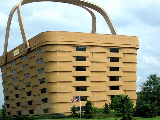 Longaberger building in Newark, OH. Pretty unique design.. :).  My mom went here with Becky and lindsey