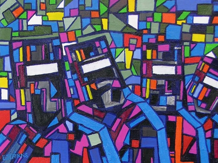 """Artist Ned Kelly's """"Colourful Road"""""""