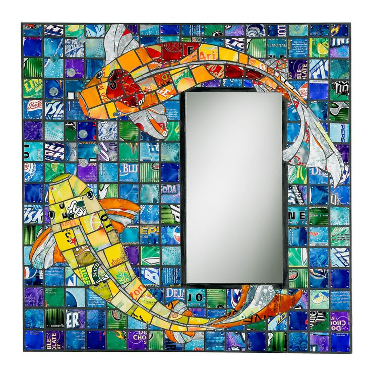Jill Helms Recycled Metal Mosaic - made from recycled aluminum cans