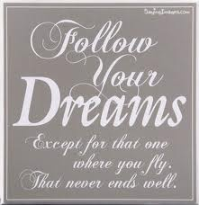 Watch out for those dreams where you fly...