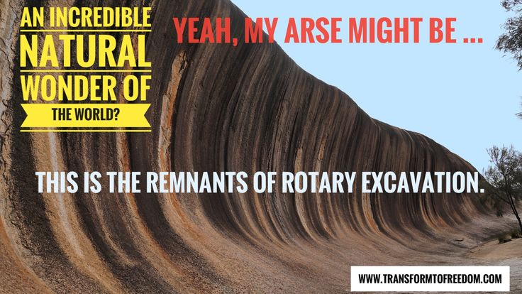 """Think this is impossible? Have you ever seen a Bagger 288 Rotary Excavator? The other thing you may be thinking is the noun, """"rock""""! Well, there's evidence to suggest there was no """"rock"""" on Earth up until circa 5,500 b.c. Think the movie Avatar, to get a mental image ... Russian – apparent, humanitarian and scientist going only by his YouTube name of DITRH makes a very interesting case ... www.transformtofreedom.com"""