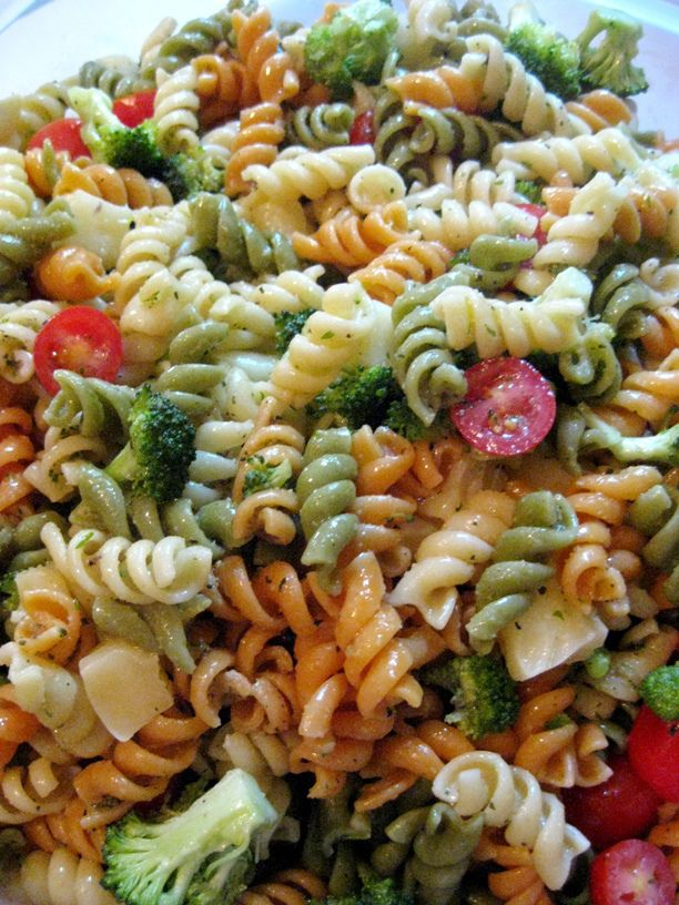 Pasta Salad with Homemade Italian Dressing | Karla M Curry | GwendyLicious