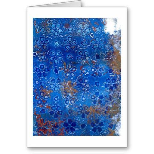 Blue Sakura Greeting Cards