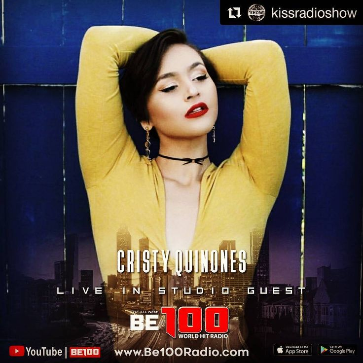 #Repost @kissradioshow (@get_repost)  Gentlemen get on your feet @cristyquinones is this Sundays LIVE studio musical guest on The KISS RADIO  SHOW at our new time 6PM- 9PM EST. Chi-town stand up for the sexy comic styling of  @vanessafraction and much more will be LIVE in the studio to tell all.  Log on  this Saturday and Sunday to the KISS RADIO SHOW on www.Be100Radio.com  YouTube LIVE  @be100radiolive @kissradioshow  Tune in every Saturday and Sunday for 'Today's Topics' 'Words of Wisdom'…