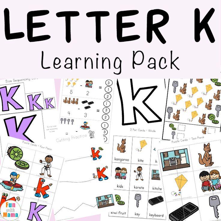 Alphabet Activities for Kids in 2020 Letter k preschool