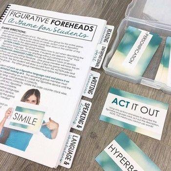 Figurative Foreheads: A Game for Teaching Figurative Language