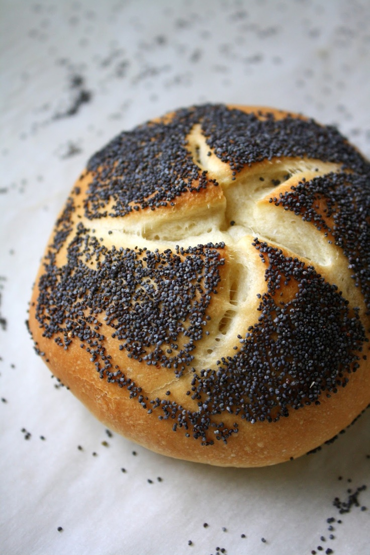 Poppy-seed Kaiser Rolls, from Jane's Sweets & Baking Journal.