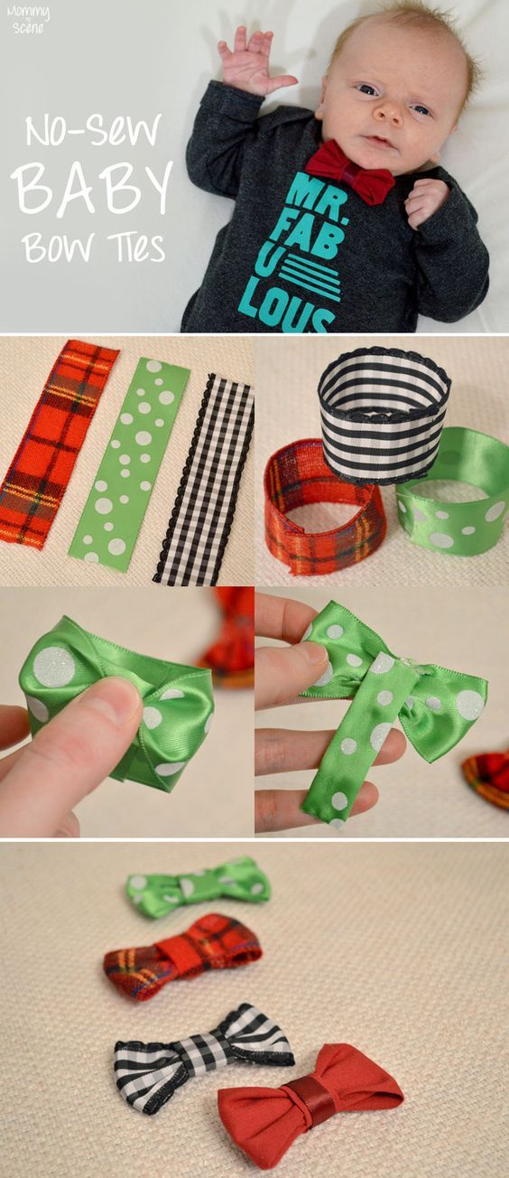 No-Sew Baby Bow Ties - Mommy Scene