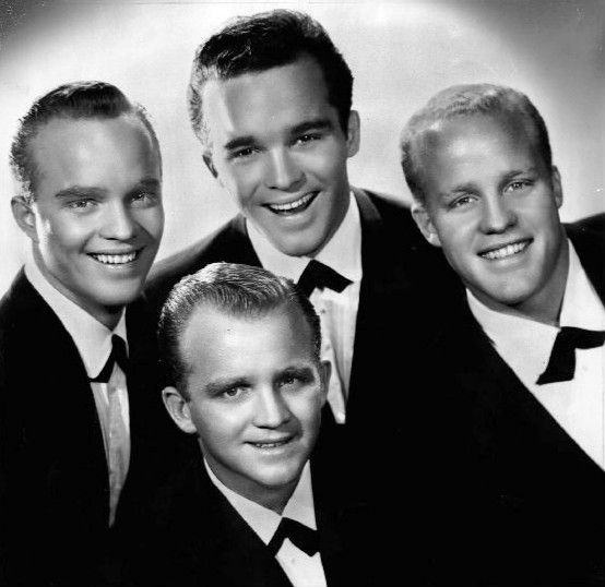 The Crew-cut and the Ivy-league cut in 1959 -- these are Bing Crosby's boys - Gary, Lindsay, Phil and Dennis.