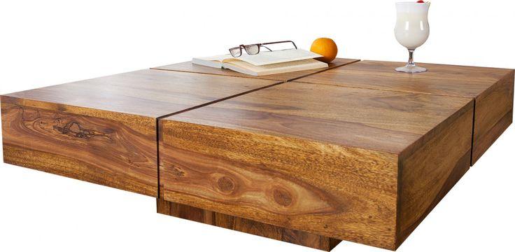 Table basse en bois design coloris naturel