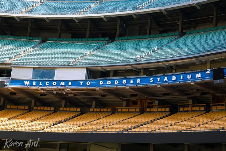 Welcome to Dodger Stadium Photos. Empty Seats. Iconic Los Angeles. Karen Ard Photography.