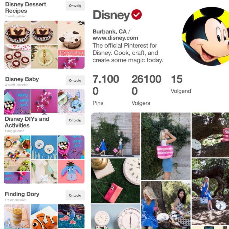 Op de Pinterest pagina van Disney kan je terecht voor oneindig veel creatieve ideeën. Recepten, knutselideeën voor kinderen,... Alles onderverdeeld in prachtige borden per Disney thema zoals Cinderella, Finding Dory, Pixar, The Muppets en zoveel meer. Disney benut Pinterest op een creatieve manier en laat heel wat meer dan enkel hun films aan bod komen.