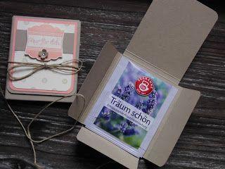 Kreativ am Deich : ..Teebeutel-Heftchen in pastell...