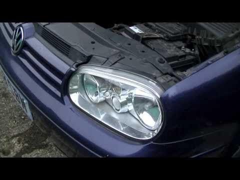 VW Golf Jetta Mk4 Headlight Bulb Replacement 1999-2005 - YouTube