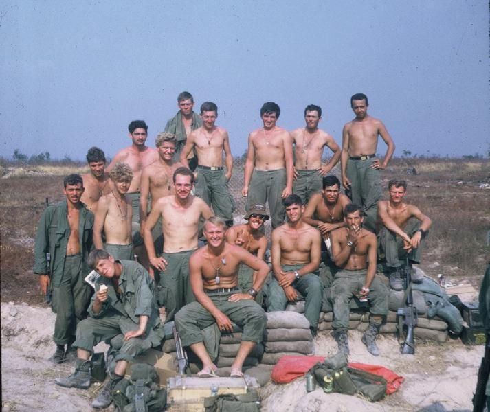 Platoon of the 12th Infantry Regiment, 4th Infantry Division, 1969.