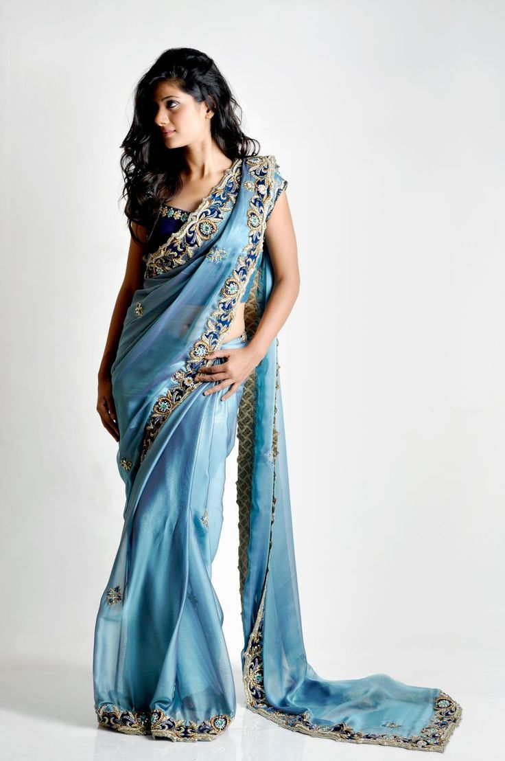 Bombay Sapphire: blue sari. #exoticwedding