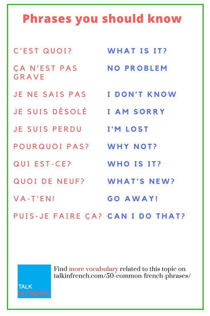 50 geläufige französische Phrasen, die jeder französische Lernende wissen sol…